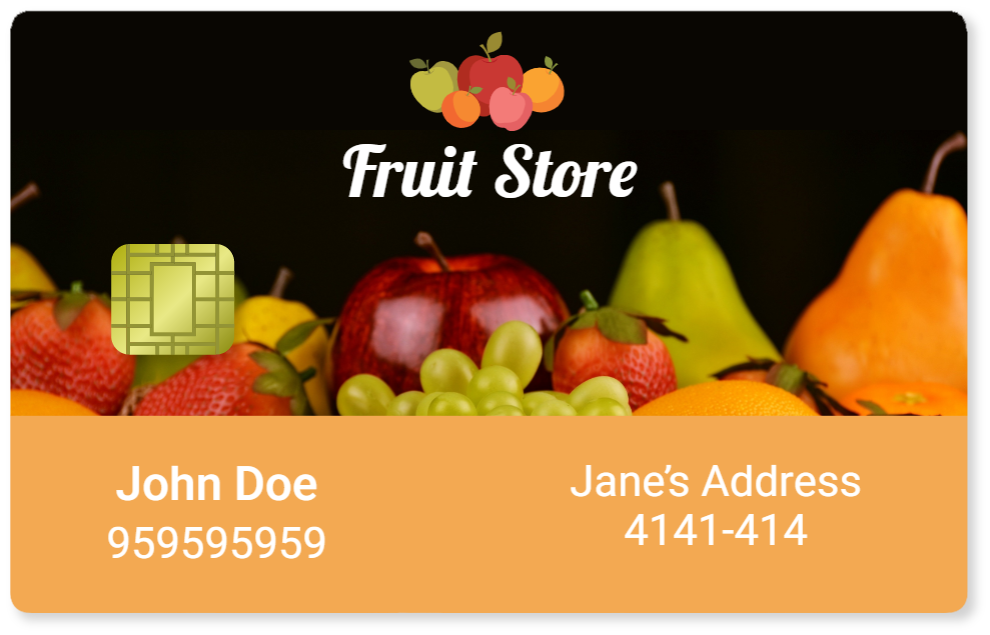 Smart Card fruit store