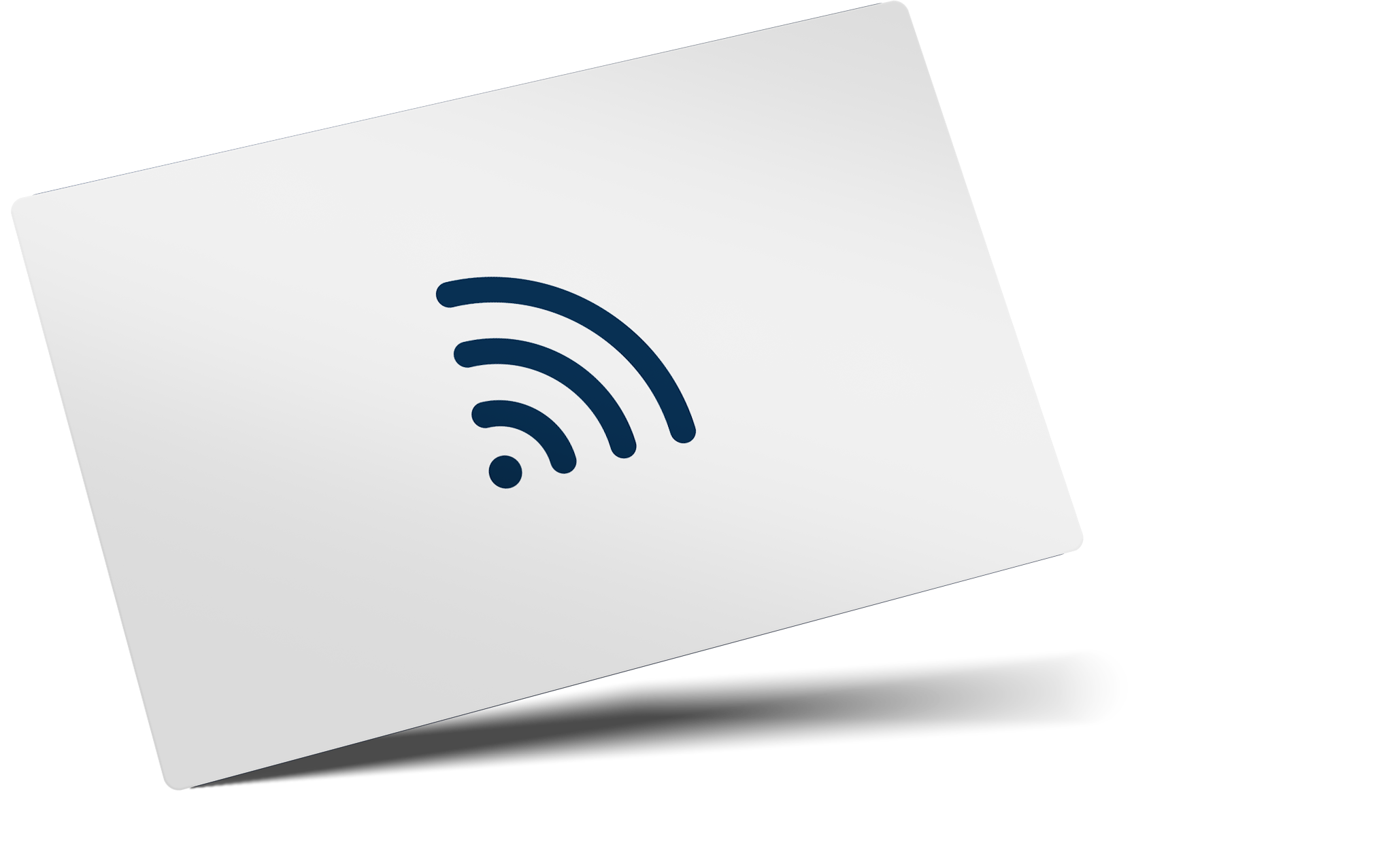 contactless card silver